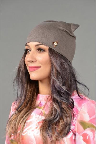 Женская трикотажная шапка Odyssey-TR-Be-cappuccino