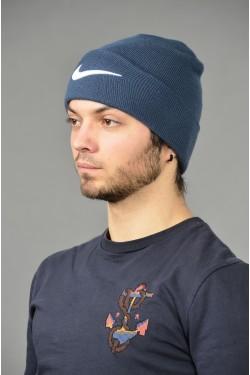 Мужская спортивная шапка Nike-d-blue-M
