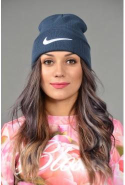 Женская спортивная шапка Nike-d-blue-W