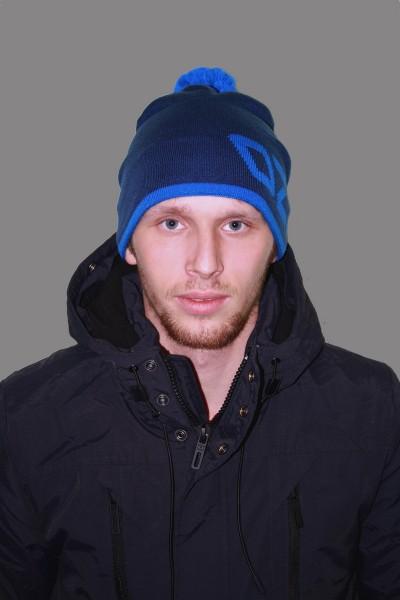Мужская трикотажная шапка ozzi 69-blue-M