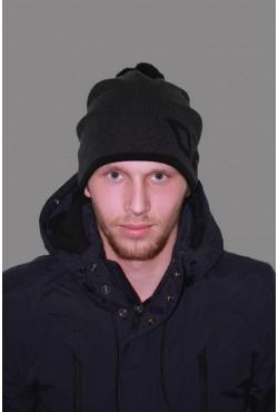 Мужская трикотажная шапка ozzi 69-black-M