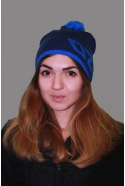 Женская трикотажная шапка ozzi 69-blue-W