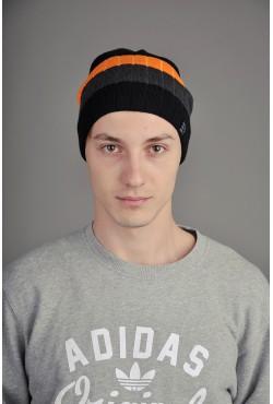 Мужская трикотажная шапка Ozzi Striped оранжевая