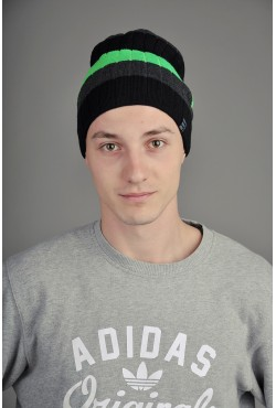 Мужская трикотажная шапка Ozzi Striped зеленая