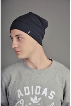 Мужская трикотажная шапка Ozzi Cap темно синяя
