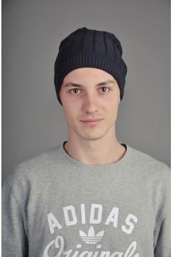 Мужская трикотажная шапка Ozzi Line темно синяя