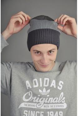 Мужская трикотажная шапка Ozzi Tripl серая