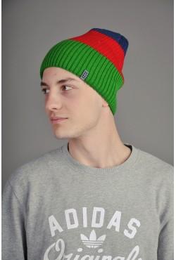 Мужская трикотажная шапка Ozzi Tripl красная