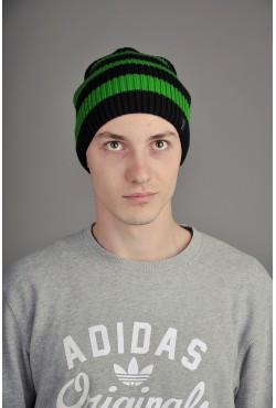 Мужская трикотажная шапка Ozzi Double зеленая