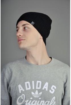 Мужская трикотажная шапка Ozzi Striped черная