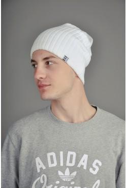 Мужская трикотажная шапка Ozzi White2