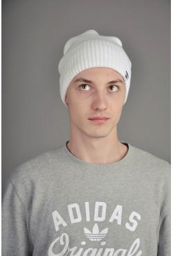 Мужская трикотажная шапка Ozzi White3