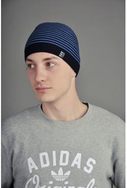 Мужская трикотажная шапка Ozzi Classic Black/Blue