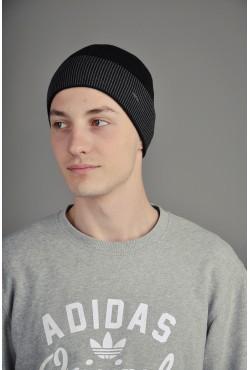Мужская трикотажная шапка Ozzi Black/Grey