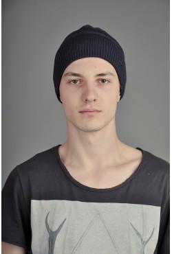 Мужская трикотажная шапка Ozzi Lap темно синяя