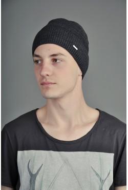 Мужская трикотажная шапка Ozzi Lap темно серая