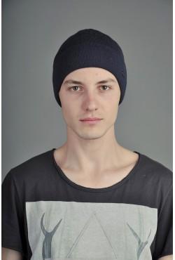 Мужская трикотажная шапка Ozzi Lap2 темно синяя