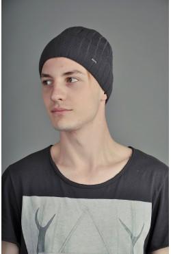 Мужская трикотажная шапка Ozzi Lap3 серая