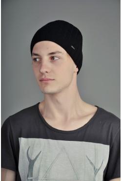 Мужская трикотажная шапка Ozzi Lap3 черная