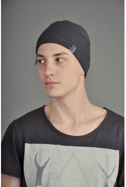 Мужская трикотажная шапка Ozzi Smoo серая