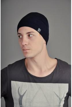 Мужская трикотажная шапка Ozzi Smoo DarkBlue
