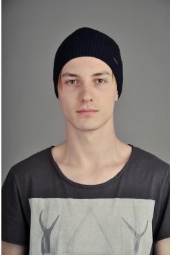 Мужская трикотажная шапка Ozzi Smoo2 темно синяя