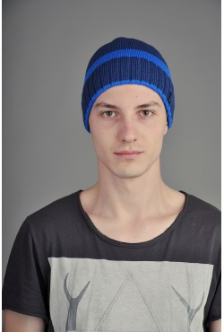Мужская трикотажная шапка Ozzi SmooST синяя