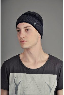 Мужская трикотажная шапка Ozzi SmooST серая
