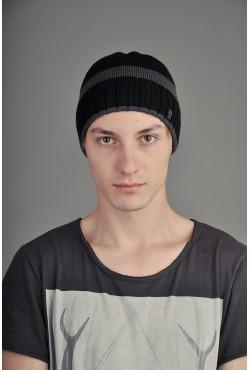 Мужская трикотажная шапка Ozzi SmooST черная
