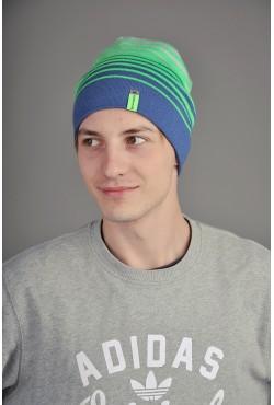 Мужская трикотажная шапка  74-Green