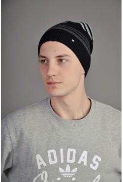 Мужская трикотажная шапка  34-Grey