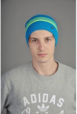 Мужская трикотажная шапка  34-Lime