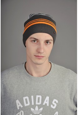 Мужская трикотажная шапка  34-Orange