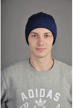 Мужская трикотажная шапка  53-Blue