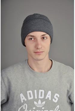 Мужская трикотажная шапка  53-Grey