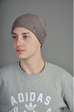 зимние шапки, Мужская трикотажная шапка  36-m