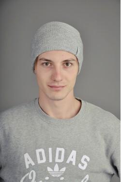 зимние шапки, Мужская трикотажная шапка  003-2-m
