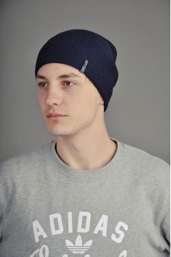 зимние шапки, Мужская трикотажная шапка  012-3-m