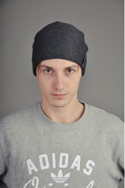 зимние шапки, Мужская трикотажная шапка  007-4-m