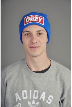 Мужская шапка Obey синяя