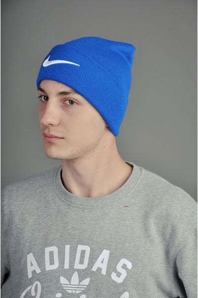 Мужская спортивная шапка Nike синяя