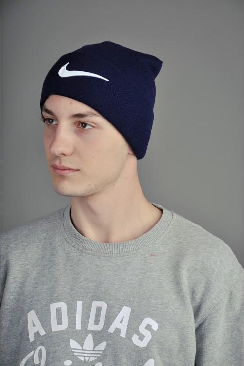 Мужская спортивная шапка Nike темно синяя