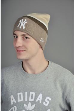 Мужская шапка New York BeigeWBrown