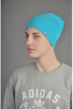 Мужская трикотажная шапка Ozzi светло синяя