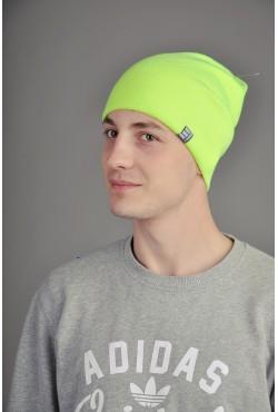 Мужская трикотажная шапка Ozzi лайм