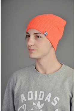 Мужская трикотажная шапка Ozzi Warm оранжевая