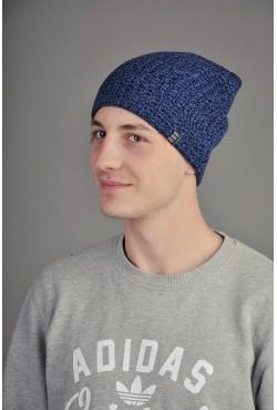 Мужская трикотажная шапка Ozzi Warm Black/Blue