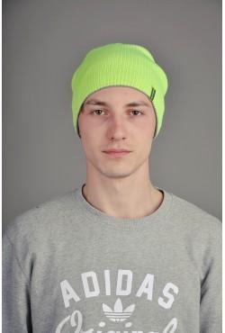 Мужская трикотажная шапка  72-Lime