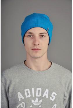 Мужская трикотажная шапка  72-Blue