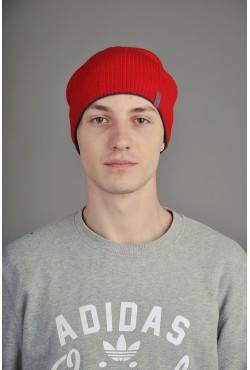 Мужская трикотажная шапка  72-Red